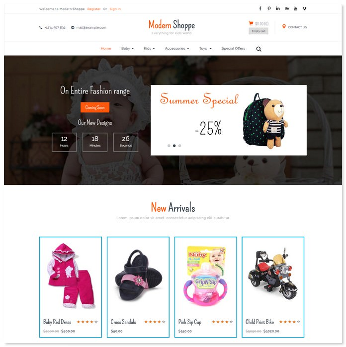 Modern Shoppe - Ecommerce Bootstrap Template