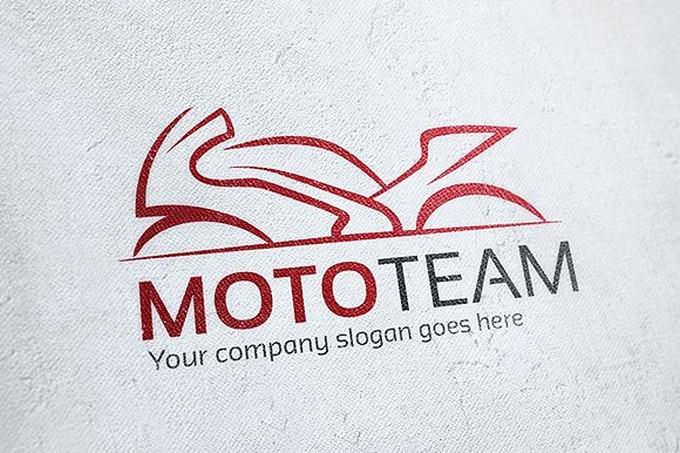 Moto Team Motorcycle Logo