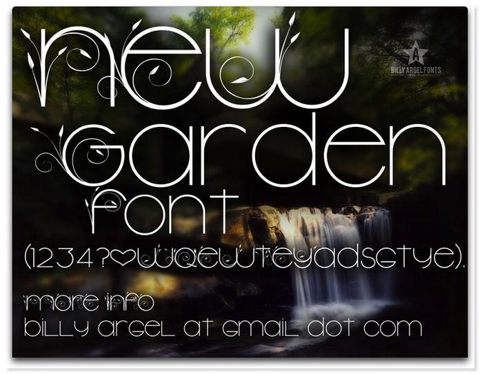 New Garden Easter Font
