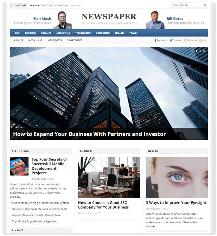 Newspaper WordPress By Theme Junkie