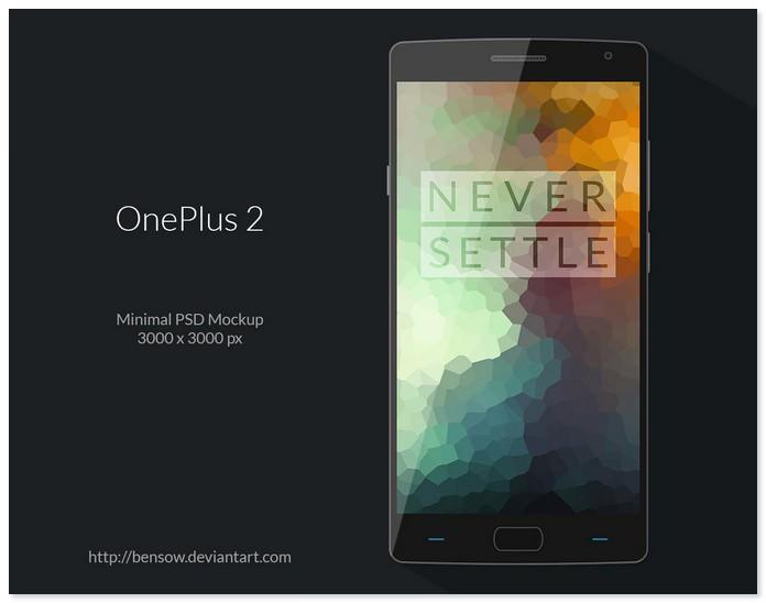 OnePlus 2 PSD Mockup
