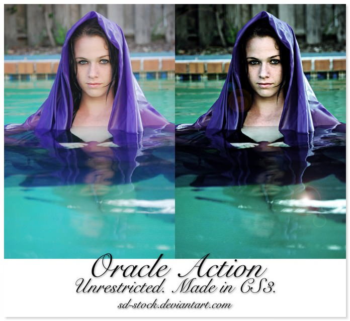 Oracle Instagram Photoshop Action