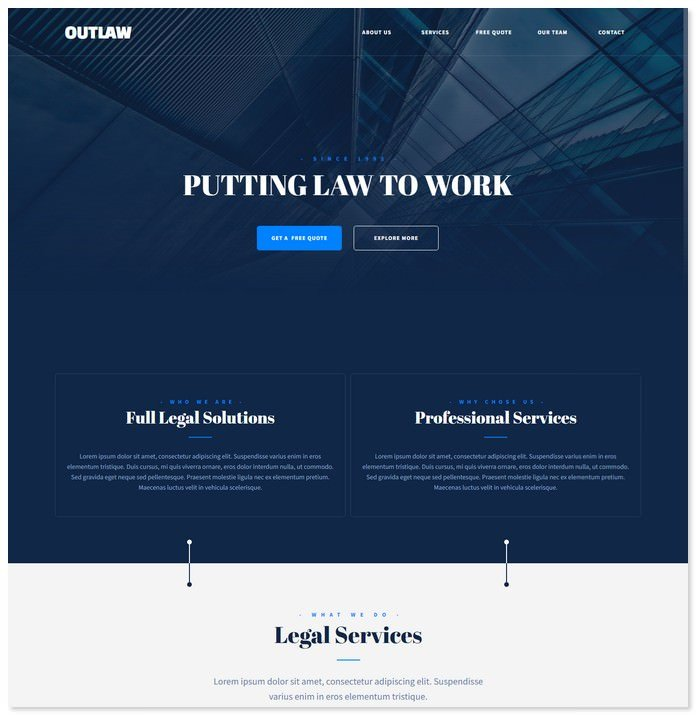 Outlaw - Law Firm Muse Website Template