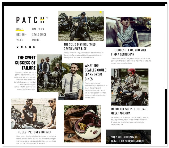PATCH - A Newspaper-Inspired Theme