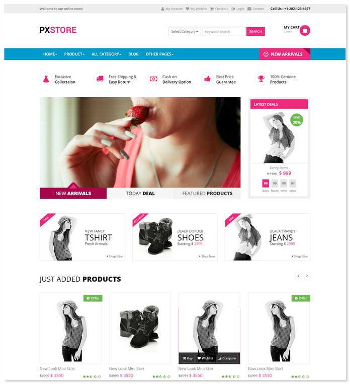 PXSTORE - Ecommerce Bootstrap Template