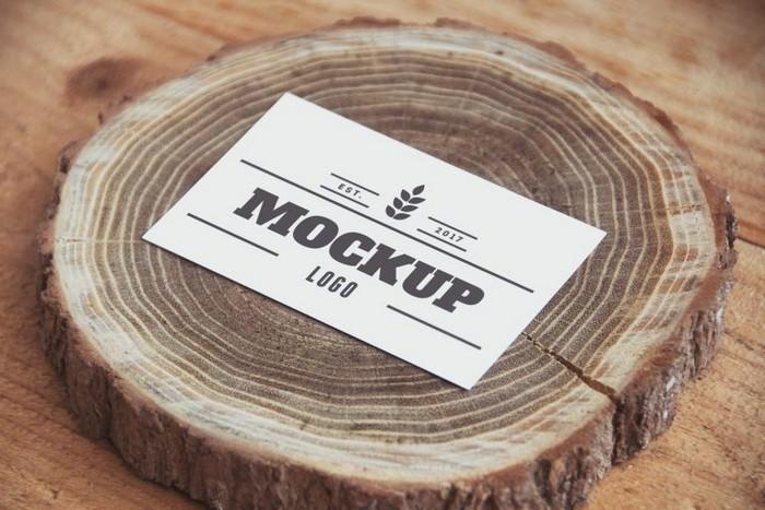 Paper on Wood Free Logo MockUp