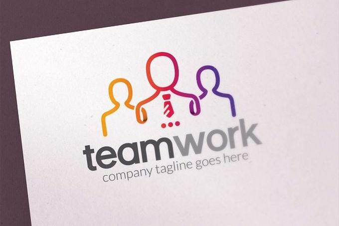 People Team Logo Template