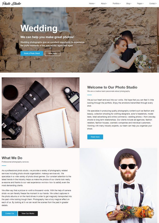Photo Studio - Photo Portfolio Creative Website Template