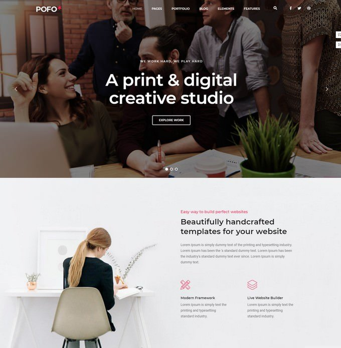 Pofo - Creative Agency Portfolio Template