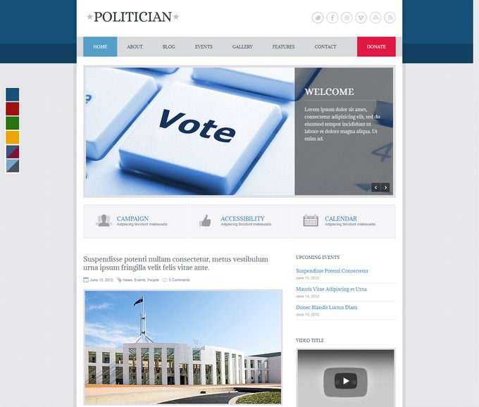 Politician Responsive HTML5 Template