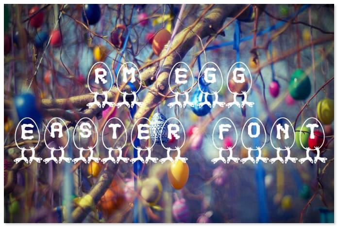 RM Egg Easter Font