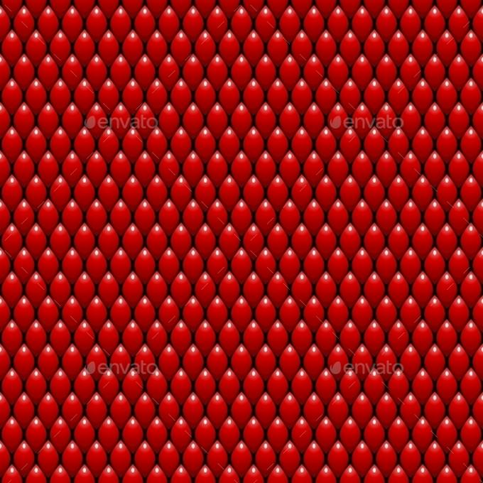 Red Dragon Scales Seamless Texture