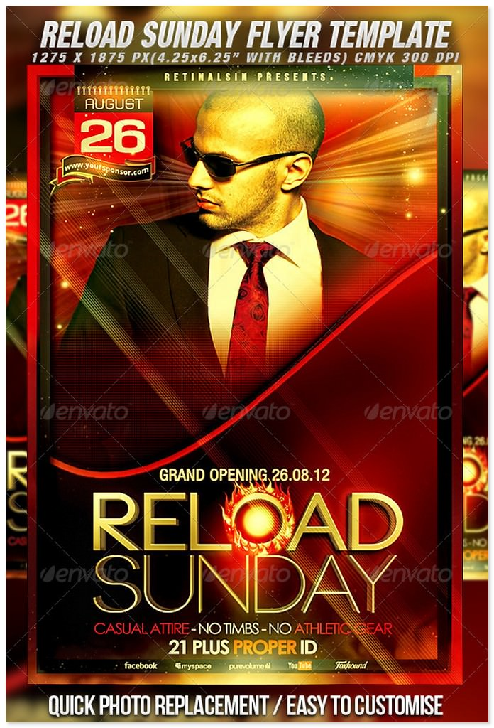 Reload Sunday Flyer Template