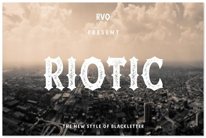 Riotic Typeface
