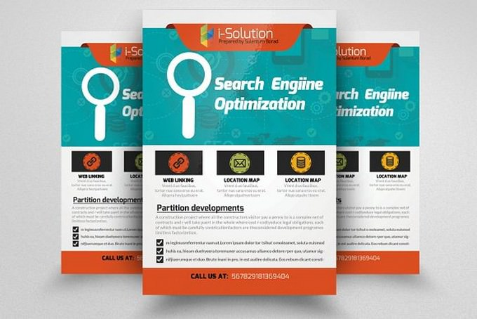 SEO isolution Flyer Template