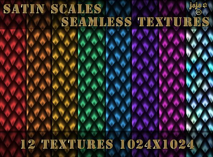 Satin Scales Seamless Textures