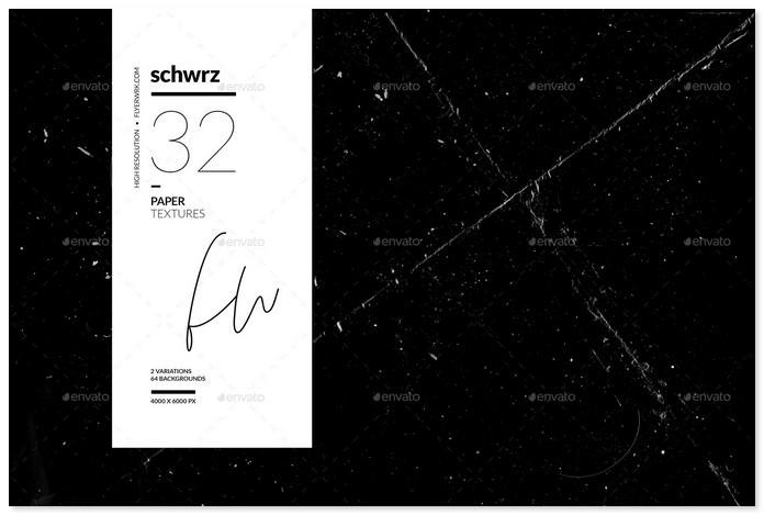Schwrz - 32 Black Paper Textures