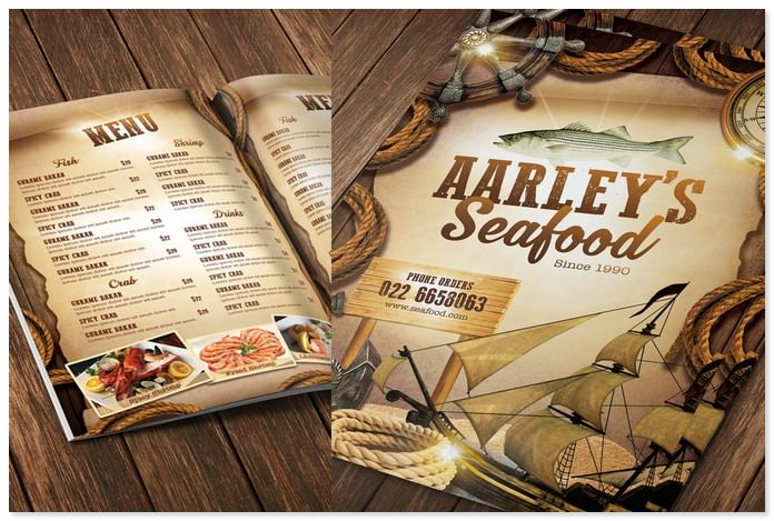 Seafood Holiday Menu Template
