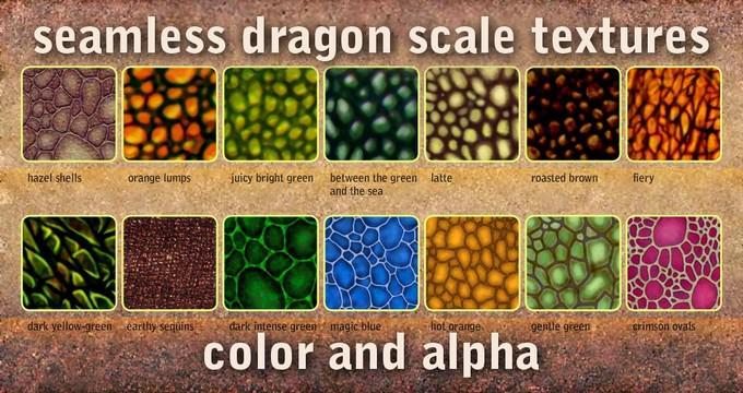 Seamless Dragon Scale Textures