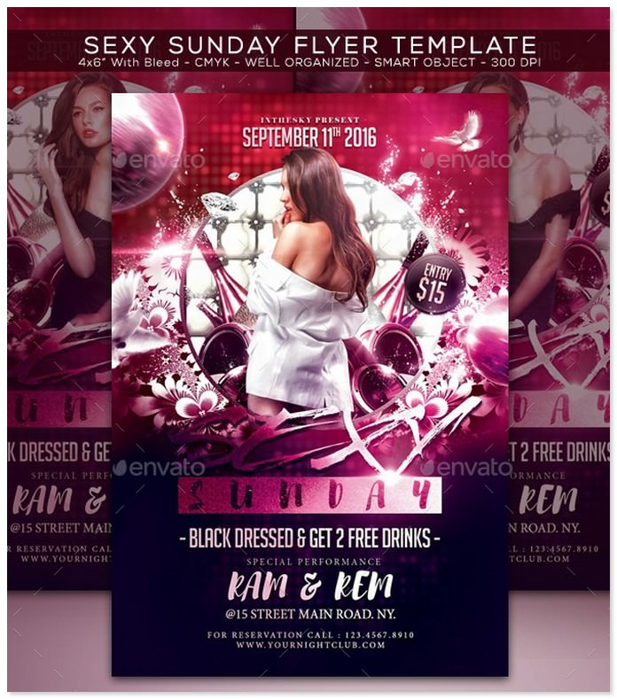 Sexy Sunday Flyer Template