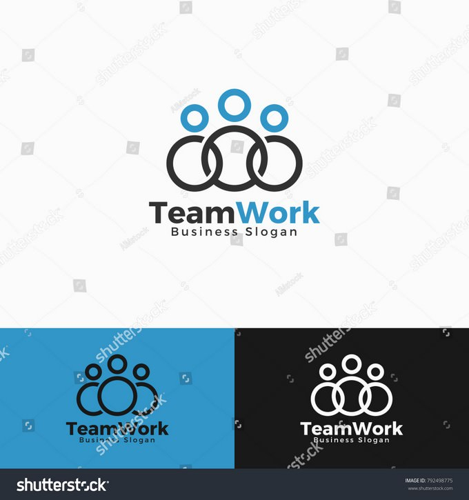 Simple Team Work Logo