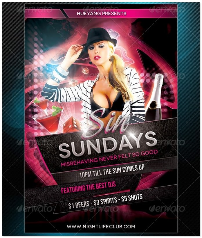 Sin Sundays Flyer Template