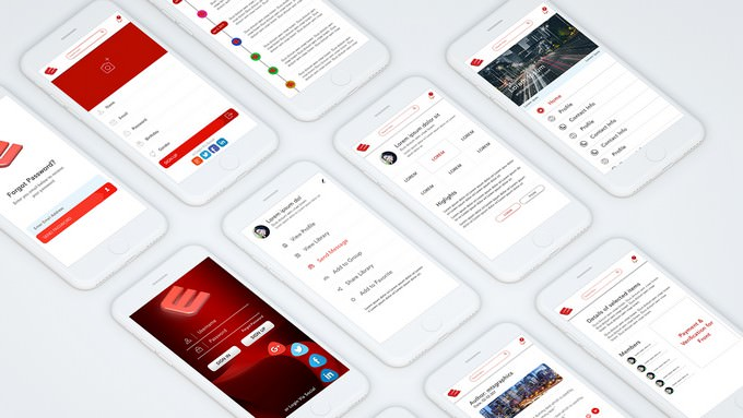 Social Media App Complete Mockup