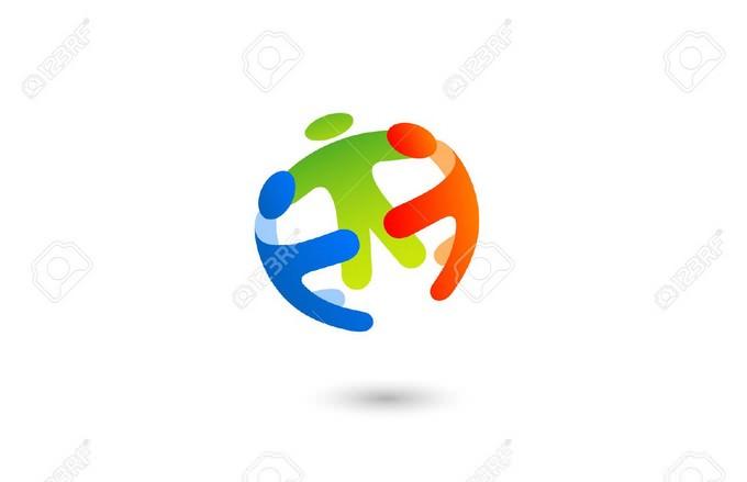 Social Team Work Sphere Logo Design