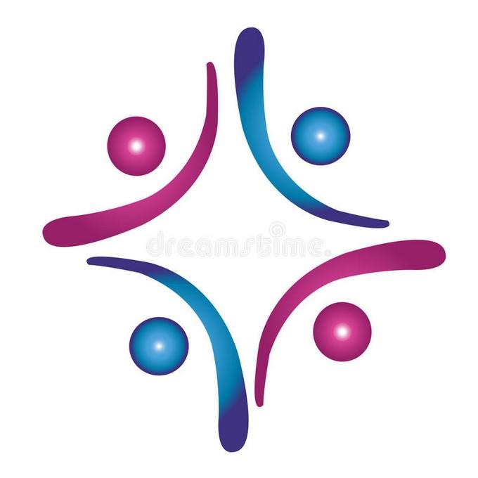 Team Work Social Help Logo