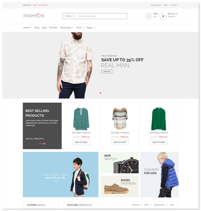 The Fashion - eCommerce Shop Bootstrap Template