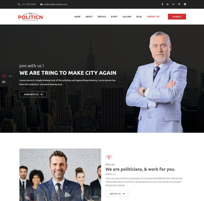 The-Politicn - Political Website Template