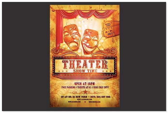 10  best theater flyer templates 2018
