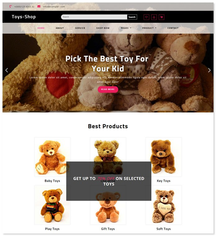 Toys Shop - Ecommerce Bootstrap Template