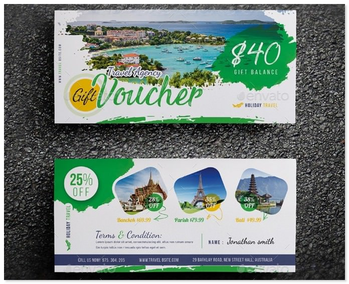 Travel Agency Gift Voucher # 3