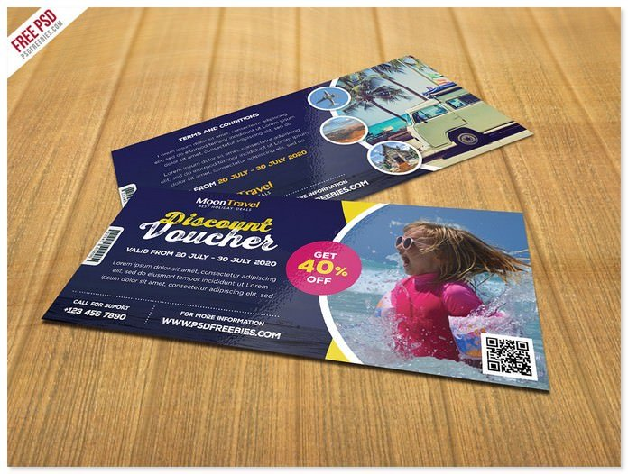 Travel and Trip Discount Voucher PSD Free