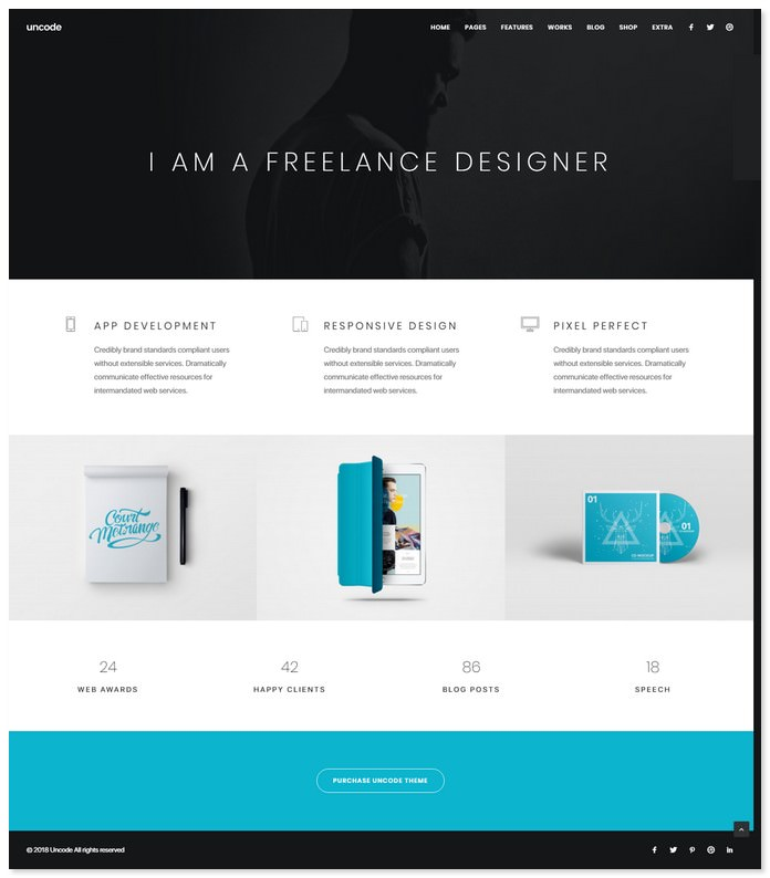 Uncode - Creative WordPress Theme for Freelancer