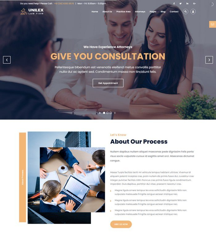 Unilex - Law Firm & Lawyer HTML Template
