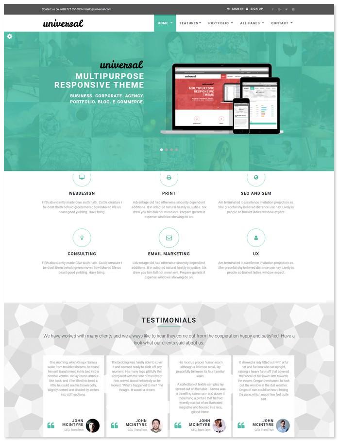 Universal - Business & E-COMMERCE Template