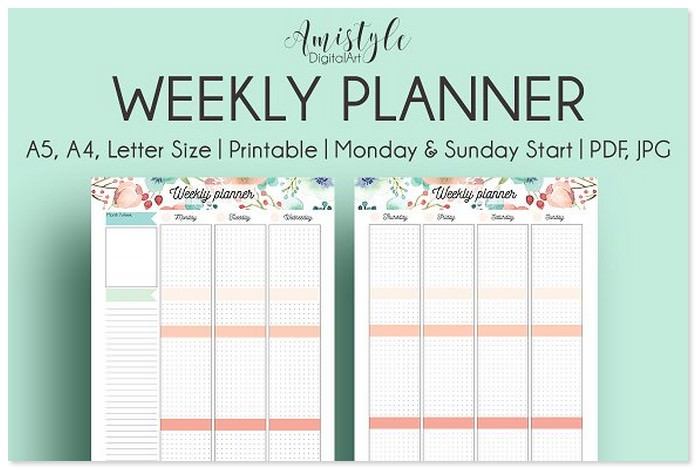 Weekly Printable Planner Template