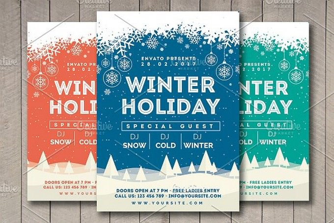 Winter Holiday Flyer