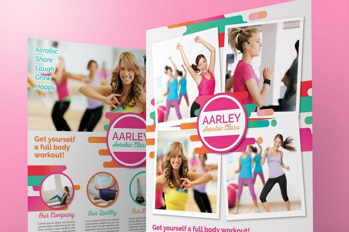 Women Aerobic Fitness Flyer