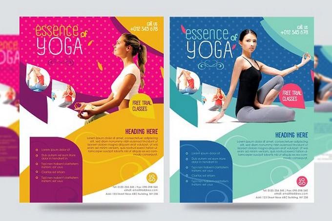 Yoga Flyer Fitness Flyer V1