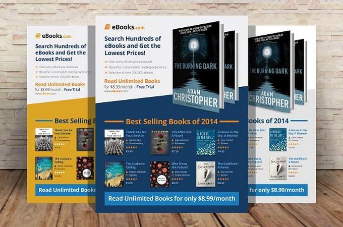 eBook Flyer Template PSD
