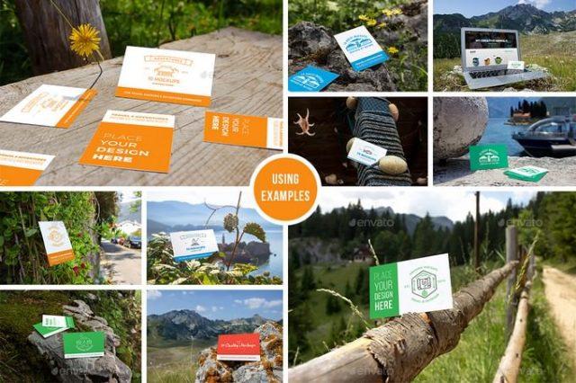 10 Fresh Business Cards Mockups - Travel Set vol. 2