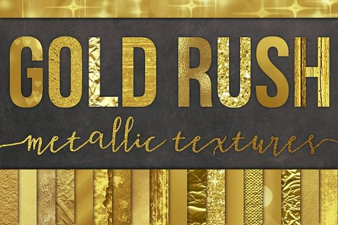 28 Gold Foil Textures Backgrounds