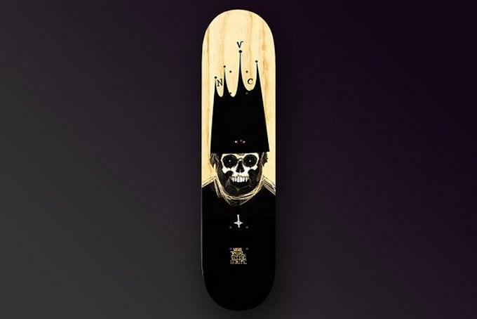 3 Skateboards Mockup