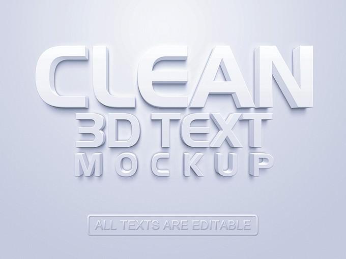 3D Text Mockup