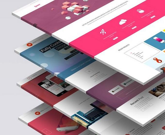 3D Website Mock-Up 1