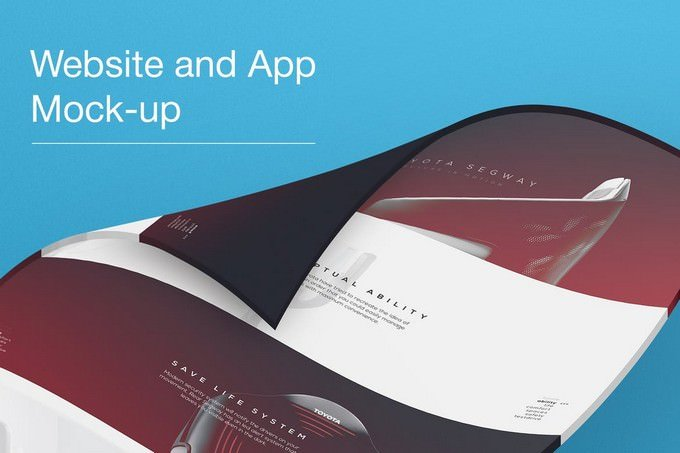 3D Website and App Mockups