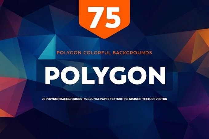 75 Polygon Colorful Backgrounds